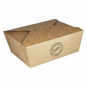 BIO Take-Away Boxen Menüboxen ToGo aus Karton, 21.5x15.9x4.8cm, 25 Stk.