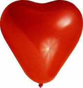 Luftballons HERZEN Ø 350 mm, Größe L,   5 Stk.