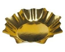 Pappteller sternförmig gold 28 cm Durchmesser,  2 Stk.