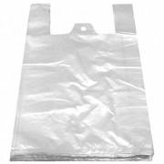 Hemdchentragetaschen HDPE weiß 300+180x550mm, feste Qualität, 100 Stk.