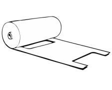 Knotenbeutel 5 kg HDPE transparent, 480 x 218 mm, gerollt, extra stark, 200 Stk.