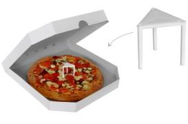 Abstandshalter aus Kunststoff für Pizzakartons 3 cm, 100 Stk.