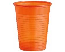 Trinkbecher Partybecher orange 180 ml, aus PS, Ø 70 mm, 50 Stk.