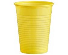 Trinkbecher Partybecher gelb 180 ml, aus PS, Ø 70 mm, 50 Stk.
