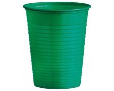 Trinkbecher Partybecher grün 180 ml, aus PS, Ø 70 mm, 50 Stk.