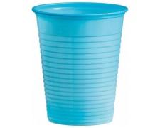 Trinkbecher Partybecher hellblau 180 ml, aus PS, Ø 70 mm, 50 Stk.