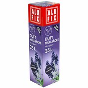 ALUFIX Duft Müllsäcke mit Zugband  25 L, 50x50cm zarter Lavendel, 15 Stk.