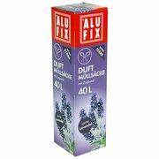 ALUFIX Duft Müllsäcke mit Zugband  40 L, 53x60cm zarter Lavendel, 12 Stk.