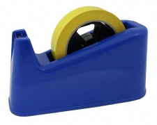 Tischabroller für 12, 16, 19 und 25mm Klebefilm mit 25+76mm Kern, blau