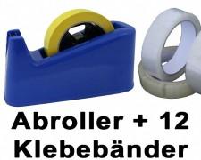 Tischabroller schwere Ausführung inkl. 12 Stk. Klebeband 19 mm x 66 m - SPARSET