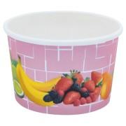 Eisbecher, Pappe rund 100 ml Ø 70mm, Höhe 45mm, Fruchtreigen,  50 Stk.