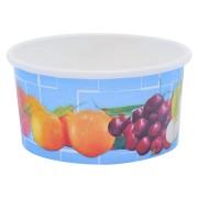 Eisbecher, Pappe rund 160 ml Ø 85mm, Höhe 43mm, Fruchtreigen,  50 Stk.