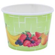 Eisbecher, Pappe rund 140 ml Ø 73mm, Höhe 52mm, Fruchtreigen,  45 Stk.