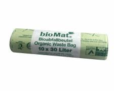 BIOMAT kompostierbare Bioabfallbeutel 30L 53x60cm, 10 Stk.