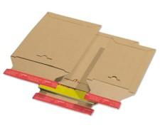 Karton-Versandtasche TP330, 240x315mm, SK mit Aufreißhilfe, Vollpappe, A4, braun