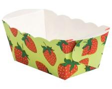 Mini-Backform, Erdbeere, fettdicht, backfest, 70x40x40 mm, 10 Stk.