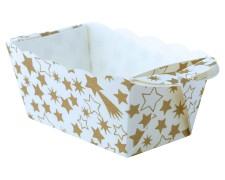 Mini-Backform, Golden Christmas, fettdicht, backfest, 70x40x40 mm, 10 Stk.