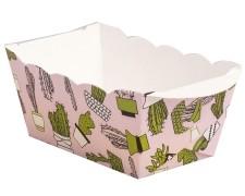 Mini-Backform, Kaktus, fettdicht, backfest, 70x40x40 mm,  rosa, 10 Stk.