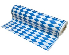 Tischtuch Biertischdecke LDPE bayerische Raute perforiert auf Rolle 0,70 x 240m