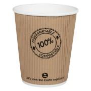 BIO Thermo-Riffelbecher CoffeeToGo PLA bis 100°C    200ml, Ø8cm, 25 Stk.