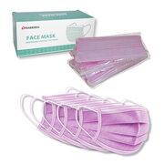 Mundschutzmasken 3-lagig mit Nasenbügel und Ohrschlaufen pink,  5 Stk.