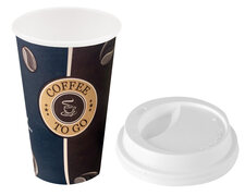 Coffee to go Becher Hartpapierbecher Pappbecher mit Premium Deckel 0,3l 50 Stk.