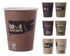 BIO Heißgetränkebecher Coffee to go mit Biobeschichtung 300 ml 350 ml,  75 Stk.