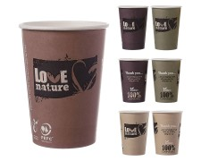 BIO Heißgetränkebecher Coffee to go mit Biobeschichtung 400 ml 490 ml,  50 Stk.
