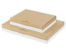 Maxibriefkarton und Warensendung Versandkarton 252x186x24mm für Din A5/B5, weiß
