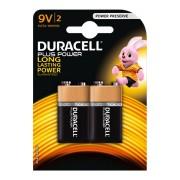 Duracell Alkaline MN1604 PLus Power 6LR61 AM-6   9 Volt E-Block, 2 Stk.