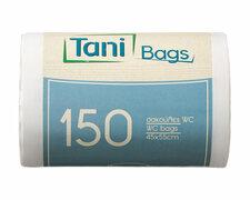 TANI Bad Müllbeutel 24 L, HDPE 45x55 cm 11my, weiß, 150 Stk.