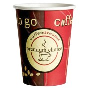 Kaffeebecher Coffee ToGo COFFEE DREAMS Pappe beschichtet  8oz. 200 ml  50 Stk.