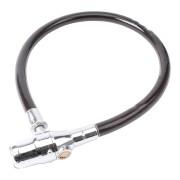 Stahldrahtschloss Ringschloss Fahrradschloss mit Alarm Sirene 100dB robust 60 cm