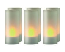 LED-Teelicht-Set Kerzenlicht stimmungsvoll  Ø43 x 100mm inkl. Ladestation 6 Stk.