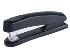 PAVO Heftgerät, Klammermaschine, Hefter für 20 Blatt, Half Strip, schwarz