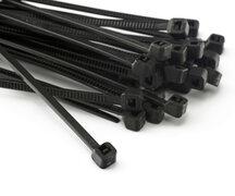 PAVO Kabelbinder 4.5 x 180mm, schwarz, aus Polyamid, verschleißfest, 100 Stk.