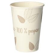 BIO Heißgetränke Trinkbecher Coffee to Go unbeschichtet taupe 180ml, 80 Stk.