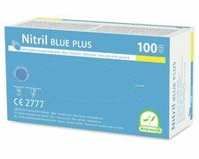 Einweghandschuhe Nitril puderfrei blau PLUS extrem stabil Größe M, 100 Stk