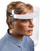 Gesichtsschutzmaske Schutzschild inkl. 2 Visiere, 25 cm, weiss, zum Selbstaufbau
