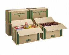 progressBOX Umzugs- Transportkarton Premium-Extra, 655x355x395mm, braun