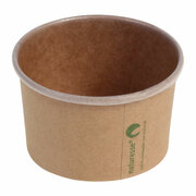 Eisbecher Pappbecher Kraft mit Biobeschichtung 100 ml Ø 75mm braun,  50 Stk.