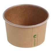 Eisbecher Pappbecher Kraft mit Biobeschichtung 150 ml Ø 85mm braun,  50 Stk.
