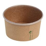Eisbecher Pappbecher Kraft mit Biobeschichtung 240 ml Ø 96mm braun,  50 Stk.