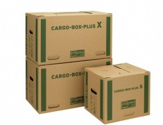 progressCARGO CARGOBOX PLUS S - Umzugskarton Transportkarton, 400x320x320mm