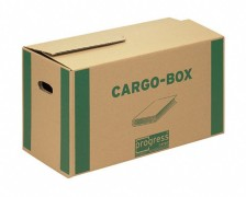 progressCARGO CARGOBOX B - Bücherbox aus stabiler Wellpappe, 585x300x350mm