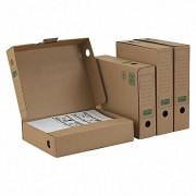 PG-PF_B06.20_020_1 ARCHIV-ABLAGEBOX mit KREMPE zum Aufbewahren von Ordnerinhalten 265x75x324, braun