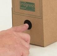 ARCHIV-ABLAGEBOX zum Aufbewahren von Ordnerinhalten, Listen  325x265x80mm, braun