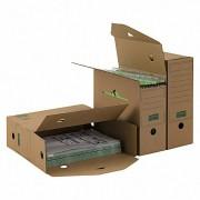 PG-PF_B06.40_010_1 ARCHIV-ABLAGEBOX zum Aufbewahren von Ordnerinhalten, Listen 334x120x275mm, braun