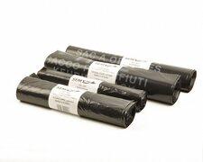 Müllbeutel 60 Liter, 28 + 27 x 100 cm,  LDPE T60+ mit PP-Band schwarz, 10 Stk.