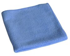 Mikrofasertuch 40x40cm blau, waschbar stark, einzeln verpackt